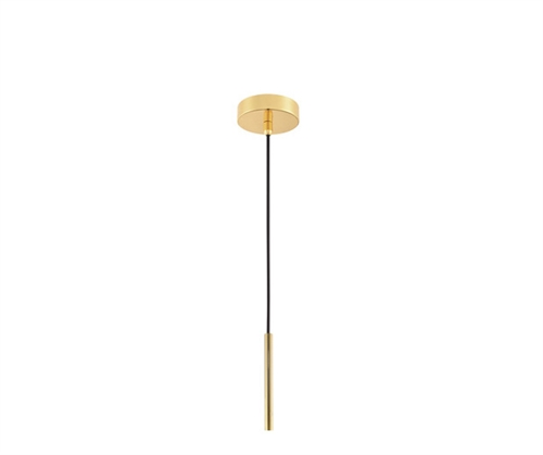 Hanglamp blown glass brass smal