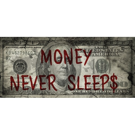 Money never sleeps - Franklin Alu Art