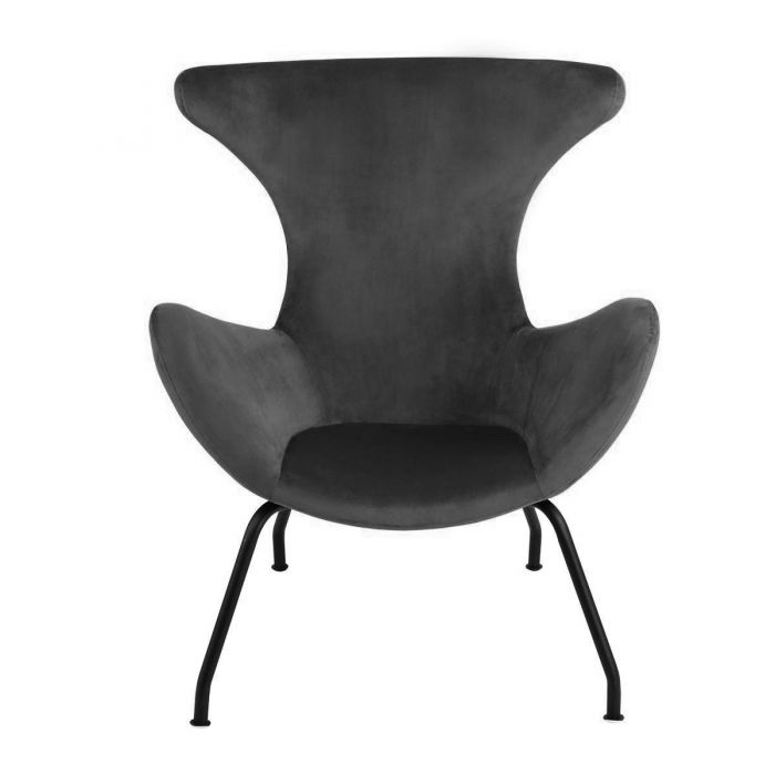 Kick Fauteuil Velvet Billy - Antraciet