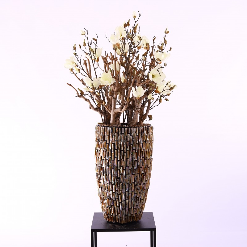 Pot rough shell 90cm